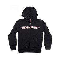 Independent Zip Hoody Bar Cross